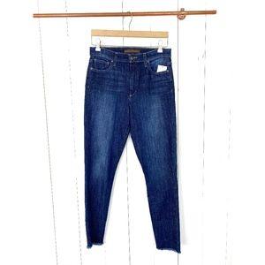 Joe's Jeans High Rise Skinny Ankle Frayed Hem 29